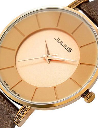 Pánské Módní hodinky japonština Křemenný Voděodolné Kůže Kapela Černá Bílá Hnědá Zlatá Růžová