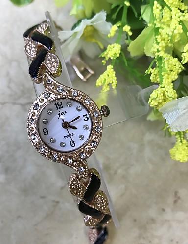 Damen Armband-Uhr Simulierter Diamant Uhr Chinesisch Quartz / Imitation Diamant Legierung Band Bequem Rotgold