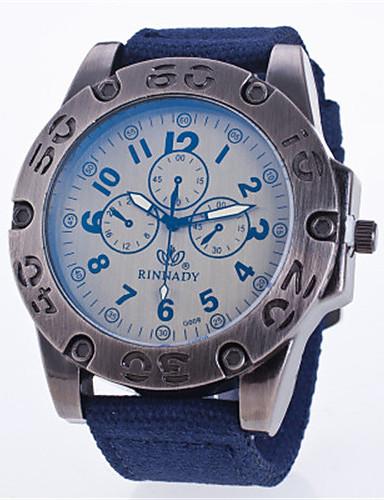 Pánské Sportovní hodinky Módní hodinky Křemenný Nylon Kapela Černá Modrá Zelená