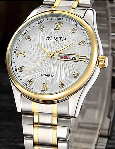 Pánské Módní hodinky Křemenný Slitina Kapela Běžné nošení Stříbro Zlatá