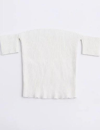 Damen Solide Einfach Sexy Street Schick Ausgehen Lässig/Alltäglich Hemd,Bateau Sommer Kurzarm Wolle Baumwolle Dünn Mittel