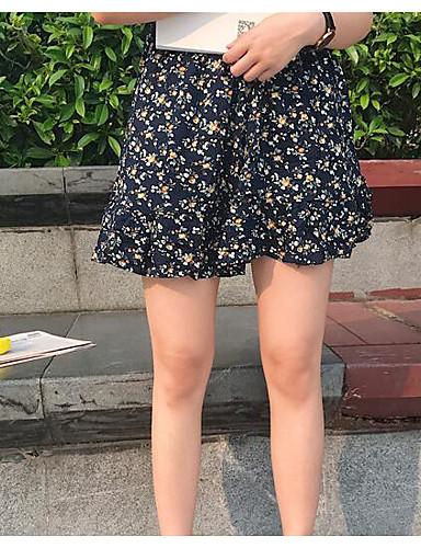 Damen Lässig/Alltäglich Über dem Knie Röcke Druck Sommer
