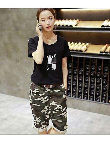 Dámské Jednoduchý Mikro elastické Kalhoty chinos Kalhoty Harémové Mid Rise maskování