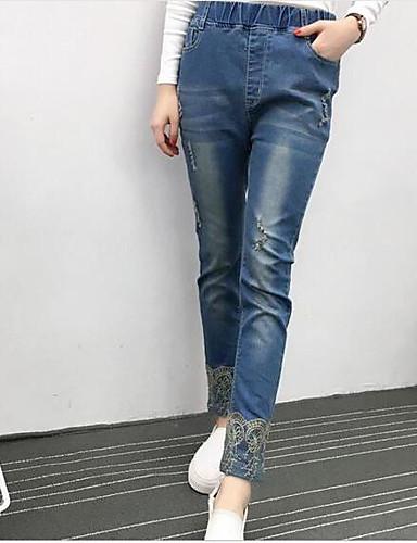 Dámské Jednoduchý Mikro elastické Upnuté Kalhoty Štíhlý Mid Rise
