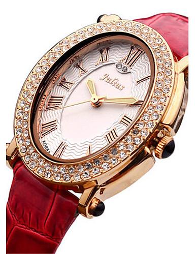 Dámské Módní hodinky japonština Křemenný Voděodolné Kůže Kapela Černá Bílá Červená Zlatá