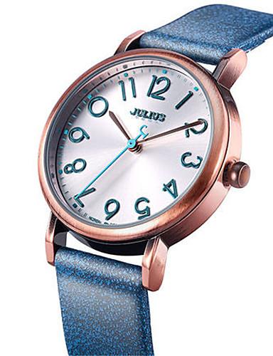Dámské Módní hodinky Křemenný Voděodolné Kůže Kapela Na běžné nošení Černá Bílá Modrá Hnědá