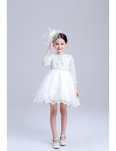 Míč šaty koleno délka květina dívka šaty