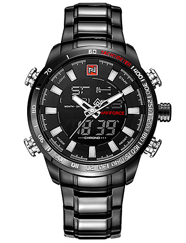 Homens Quartzo Japonês Relogio digital Relógio de Pulso Relógio Militar Relógio Esportivo Japanês Calendário Impermeável LED Mostrador
