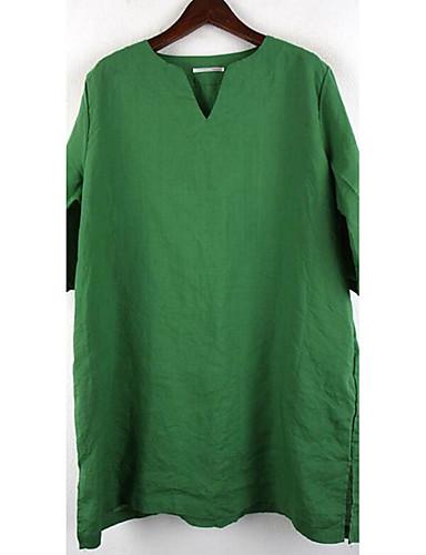 Damen Solide Anspruchsvoll Lässig/Alltäglich T-shirt,V-Ausschnitt ½ Länge Ärmel Andere