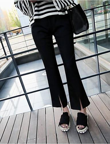 Damen Einfach Mittlere Hüfthöhe strenchy Chinos Bootcut Hose,Reine Farbe einfarbig