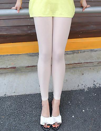 Damen Freizeit Mittlere Hüfthöhe Hochelastisch Eng Schlank Legging Hose,Polyester Polyester-Taft Sommer Solide