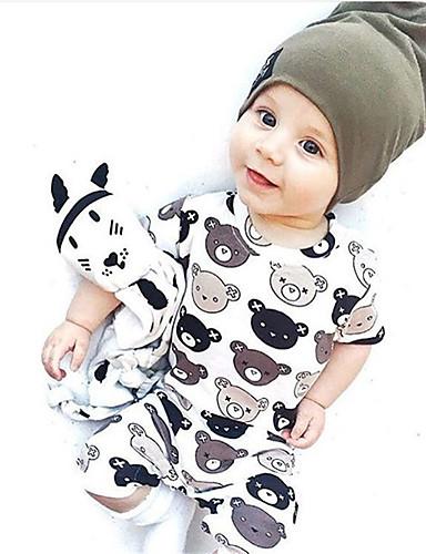 Baby Unisex Zeichentrick Geometrisch / Modisch Druck Kurzarm Baumwolle Einzelteil