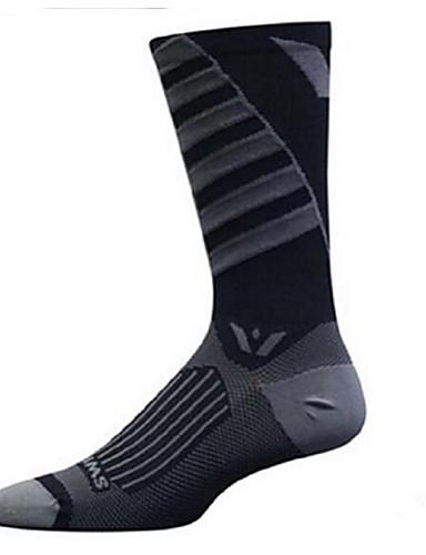 cheap Cycling Clothing-Compression Socks Sport Socks / Athletic Socks Cycling Socks Men's Women's Camping / Hiking Badminton Basketball Bike / Cycling 1 Pair Winter Nylon Spandex Black / Red Black / White Black / Gray L-XL