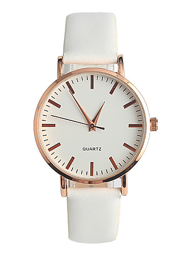 Mulheres Relógio de Pulso Japanês / Couro Legitimo Banda Casual / Fashion / Elegante Branco / Um ano / Tianqiu 377
