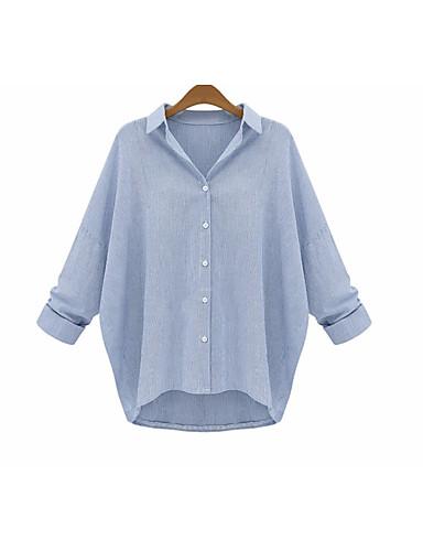 Dámské Jednobarevné Jdeme ven Jednoduché Tričko Bavlna Kulatý Dlouhý rukáv
