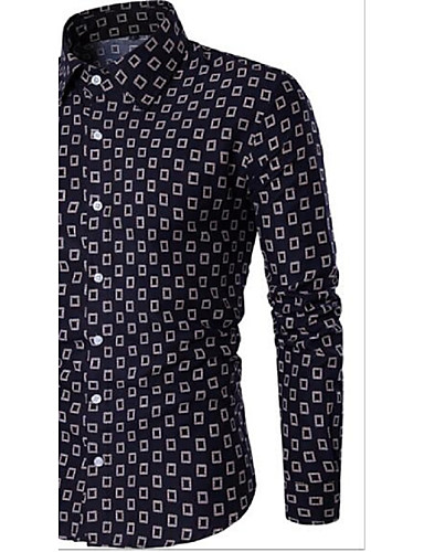 Pánské - Kostkovaný Vintage Košile / Dlouhý rukáv
