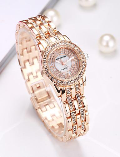 Kingnuos women 39 s casual watch fashion watch wrist watch quartz creative hot sale cool alloy band for Kingnuos watch