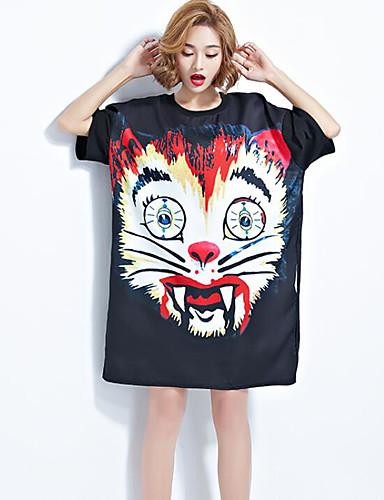 Damen Druck Street Schick Strand T-shirt,Rundhalsausschnitt Kurzarm Andere