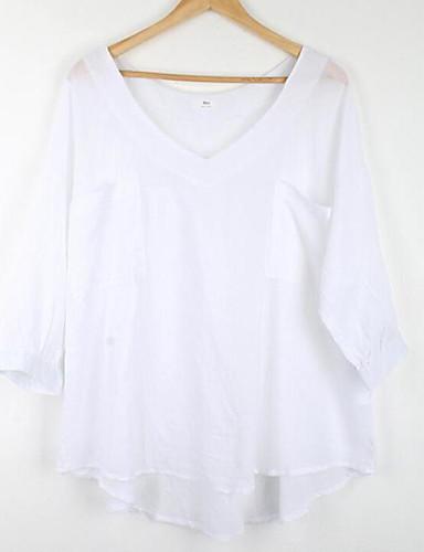 Dámské Jednobarevné Běžné/Denní Sofistikované Tričko Jiné Do V Poloviční délka rukávu