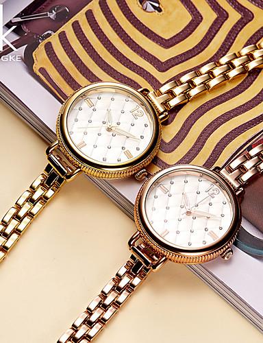 SK Mulheres Bracele Relógio Relógio de Moda Chinês Quartzo Impermeável Resistente ao Choque Metal Banda Amuleto Luxo Vintage Criativo
