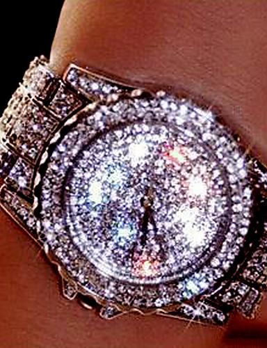 Mulheres Casal Quartzo Relógio Pavé Simulado Diamante Relógio Único Criativo relógio Relógio de Pulso Bracele Relógio Com Strass Colorido