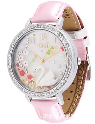 Dámské Módní hodinky Křemenný Kůže Kapela Bílá Růžová