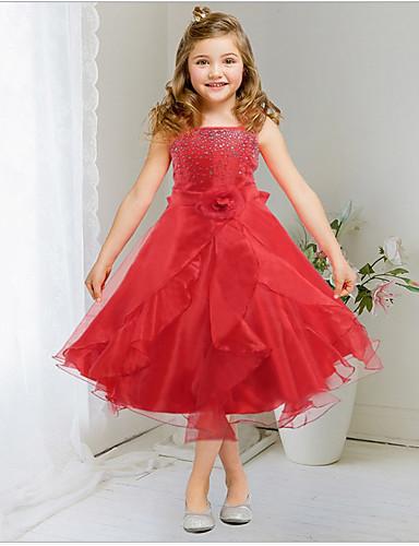 Lány Virágos   Csokor Egyszínű   Virágos   Masni Ujjatlan Ruha ... 969f0e4db2