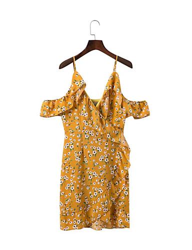 Damen A-Linie Lose Etuikleid Kleid Einfach Street Schick Blumen Gurt Übers Knie Ärmellos Seide Baumwolle Sommer Herbst Mittlere Hüfthöhe