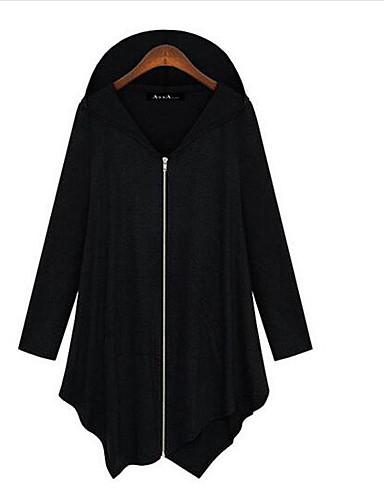 Damen Standard Strickjacke-Lässig/Alltäglich Solide V-Ausschnitt Langarm Baumwolle Frühling Mittel Unelastisch