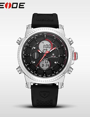 WEIDE Homens Quartzo Digital Relogio digital Relógio Esportivo Japanês Alarme Calendário Impermeável Dois Fusos Horários Silicone Banda