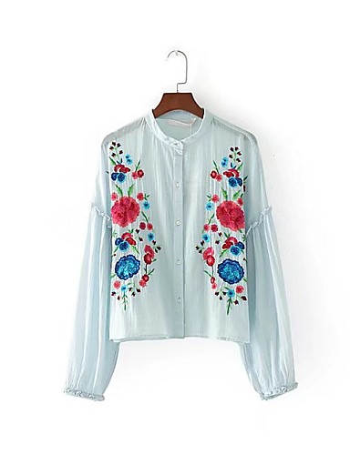 Women's Going out Daily Work Casual Cute Street chic Spring Fall Shirt