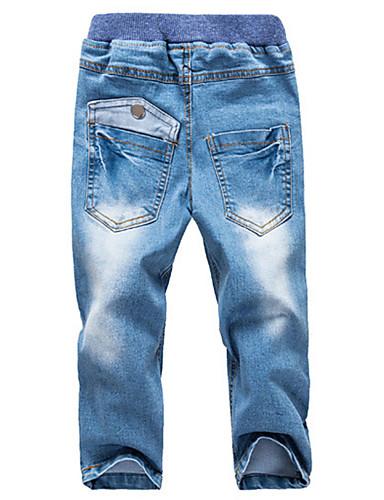 Gutt Jeans Ensfarget Bomull Alle årstider