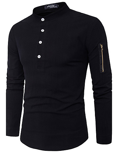 Men's Chinoiserie Cotton Shirt - Check Classic Collar