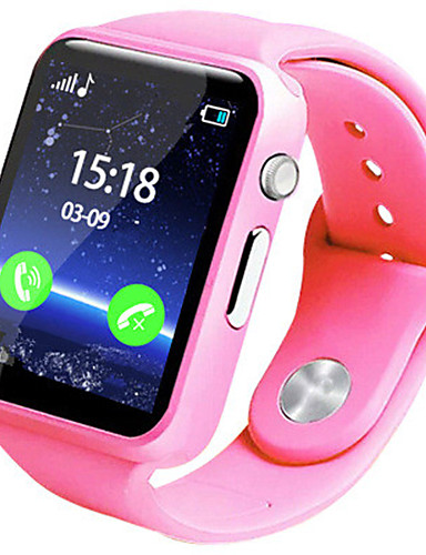Barn Smartklokke Digital Gummi Band Blå Rosa