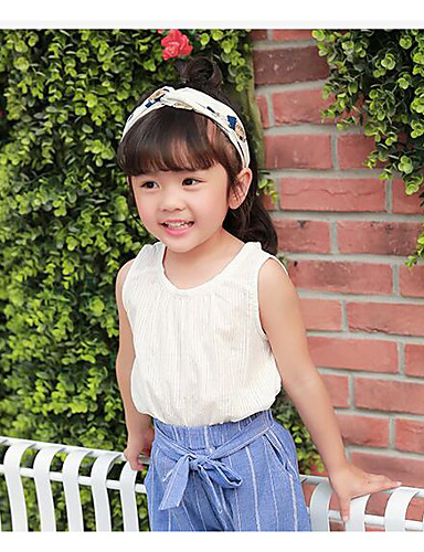 Girls' Solid Blouse,Cotton Summer Sleeveless