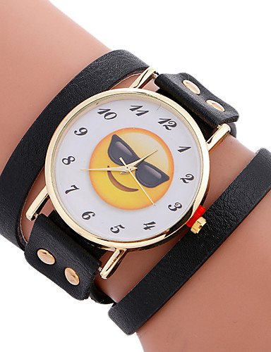 Women's Sport Watch / Bracelet Watch Creative / Cool Leather Band Charm / Luxury / Casual Black / White / Brown