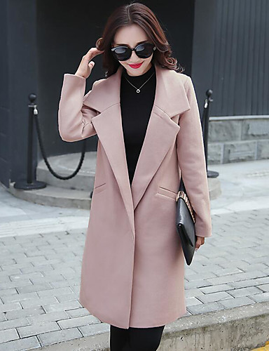 Women's Simple Casual Coat-Solid Colored