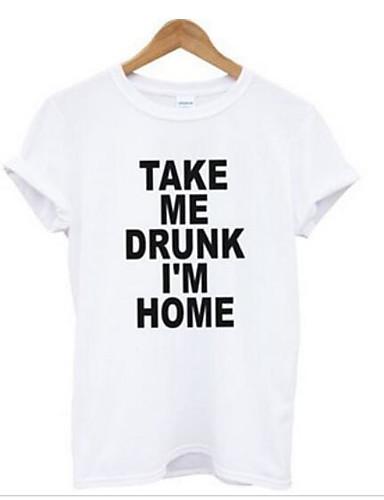 T-skjorte Dame - Bokstaver Enkel