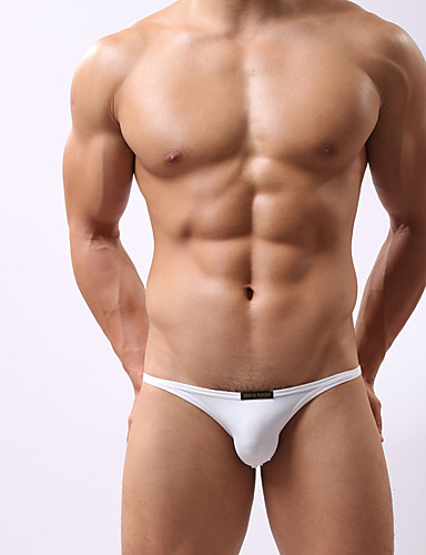 Men's Sporty Bottoms - Solid Colored Briefs / 1 Piece / Super Sexy