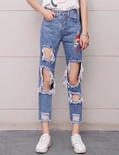 Women's High Waist Micro-elastic Slim Chinos Pants,Sexy Solid Summer