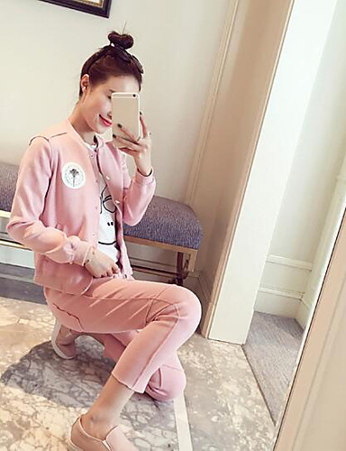 Women's Daily Casual Spring Hoodie Pant Suits