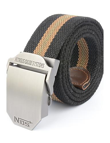 Homens Listras Escritório/Negócio Liga, Cinto para a Cintura - Listas Retalhos