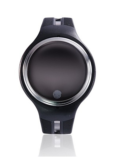 Men's Smart Watch Fashion Watch Digital Water Resistant / Water Proof Rubber Band Black White