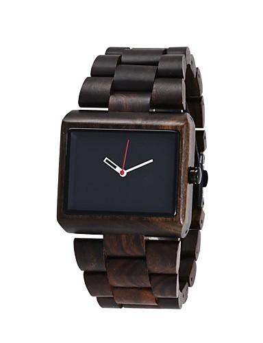 Redear Men's Wrist Watch Japanese Wooden Wood Band Luxury / Elegant / Wood Brown / Khaki / Stainless Steel