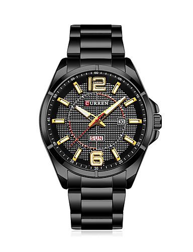 Homens Quartzo Relógio de Pulso Relógio inteligente Relógio Militar Relógio Esqueleto Relógio Esportivo Chinês Calendário Impermeável