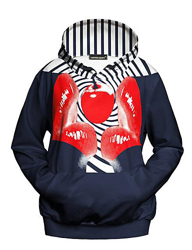Women's Daily Casual Hoodie Print Hooded Inelastic Polyester Long Sleeve Fall