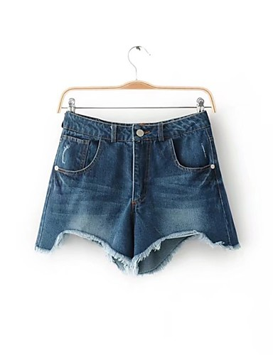 Women's Mid Rise Micro-elastic Slim Jeans Shorts Pants,Simple Street chic Solid Cotton Summer