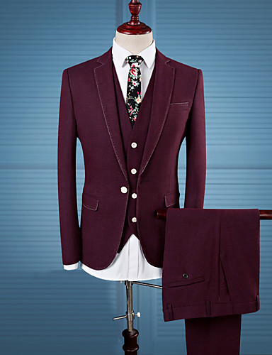Men's Casual/Daily Work Plus Size Casual Fall Winter Suit