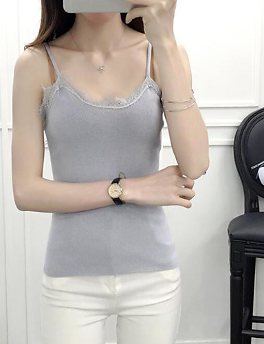 Women's Daily Regular Cardigan,Solid Strap Sleeveless Others Spring Summer Thin Micro-elastic