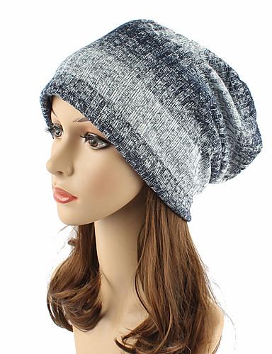 Women's Headwear / Chic & Modern / Knitwear Cotton Beanie / Slouchy / Floppy Hat - Striped Stripe / Cute / Fall / Winter